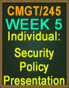 CMGT/245 Security Policy Presentation