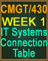 CMGT430 IT Systems Connection Table