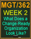 MGT/362 What Does a Change-Ready Organization Look Like?
