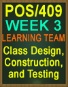 POS/409 Class Design, Construction, and Testing
