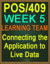 POS/409 Connecting the Application to Live Data