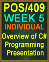 POS/409 Overview of C# Programming Presentation