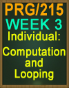 PRG/215 Computation and Looping
