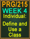 PRG/215 Define and Use a Class