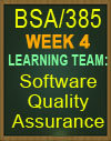 BSA/385 Software Quality Assurance