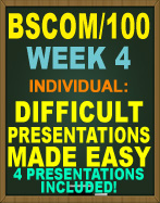 BSCOM/100 DIFFICULT PRESENTATIONS MADE EASY