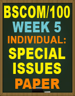 BSCOM/100 SPECIAL ISSUES PAPER