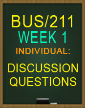 BUS211 WEEK 1 LEARNING OBJECT DISCUSSION QUESTION BUS211 2015 NEW TUTORIAL