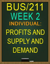 BUS/211 WEEK 2 PROFITS AND SUPPLY AND DEMAND 2015 NEW TUTORIAL