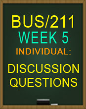 BUS211 WEEK 5 QUIZ
