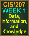 CIS/207 Wk1 Data, Information, and Knowledge CIS 207