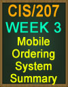 CIS/207 Mobile Ordering System Summary