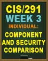 CIS/291 Week 3 Individual: Component and Security Comparison