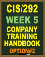 CIS292 COMPANY TRAINING HANDBOOK
