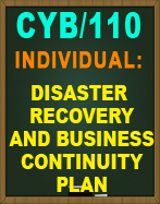 CYB/110 DISASTER RECOVERY AND BUSINESS CONTINUITY PLAN