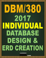 DBM/380 DATABASE DESIGN DBM380 Write a 1- to 2-page paper about a database application for the following scenario: