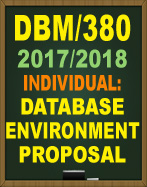 DBM380 DATABASE DESIGN DBM380 Write a 1- to 2-page paper about a database application for the following scenario: