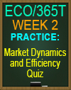 ECO/365T Market Kynamics and Efficiency quiz