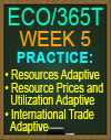 ECO/365T Resources Adaptive, Resource Prices and Utilization Adaptive, International Trade Adaptive