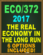 ECO/372 The Real Economy in the Long Run ECO/372 The organization's strategic plan calls for an aggressive growth plan, requiring investment in facilities and equipment, growth in productivity, and labor over the next five years. It is your team's task to determine where, outside the United States, your organization should locate its new manufacturing plant.