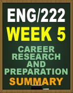 ENG222 WEEK 5 CAREER AND RESEARCH AND PREPARATION