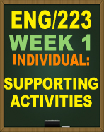 ENG/223 SUPPORTING ACTIVITY