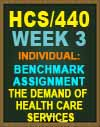 HCS/440 Week 3 Benchmark Assignment—The Demand of Health Care Services