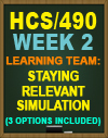 HCS/490 Week 2 Staying Relevant Simulation