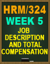 HRM/324 Week 5 Job Description and Total Compensation