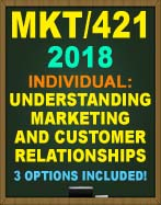 MKT/421 Understanding Marketing and Customer Relationships