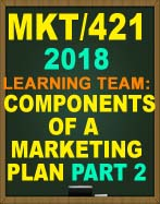 MKT/421 Strategy and Positioning Analysis Part 2