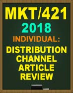 MKT/421 Marketing Research Report