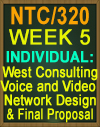 NTC/320 WEEK 5 COMPREHENSIVE NETWORK DESIGN PROJECT