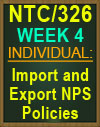 NTC/326 Import and Export NPS Policies