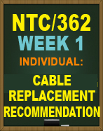 NTC362 Cable Replacement Recommendation