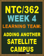 NTC/362 Adding Another Satellite Campus