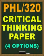 PHL/320 WEEK 1 CRITICAL THINKING PAPER