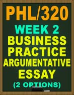 PHL/320 WEEK 2 CRITICAL THINKING QUIZ