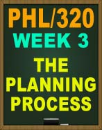 PHL/320 THE PLANNING PROCESS