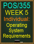 POS/355 Operating System Requirements