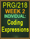 PRG/218 CODING EXPRESSIONS