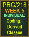 PRG/218 Coding: Derived Classes