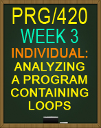 PRG/420 Analyzing a Program Containing Loops