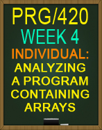 PRG/420 Analyzing a Program Containing Arrays