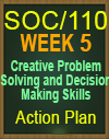 SOC/110 Creative Problem Solving and Decision Making Skills Action Plan