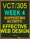 VCT305 Week 4 Website Design