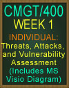 CMGT/400 Threats, Attacks, and Vulnerability Assessment