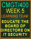 CMGT/400 Week 5 Brand NEW Supporting Activity: Internal Auditor