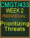 CMGT/433 Prioritizing Threats