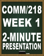 COMM 218 Week 1 Individual Communicating Effectively Worksheet